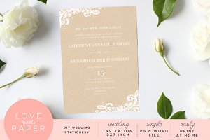 Wedding Invitation Template I1007