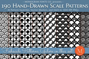 190 Handdrawn Scale Patterns