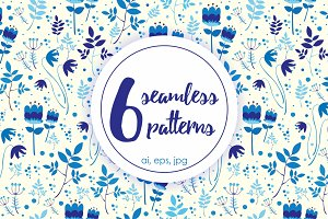 6 seamless patterns