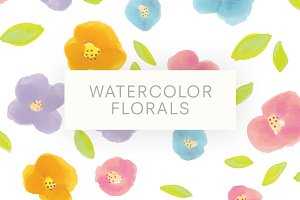 Watercolor Florals Pattern