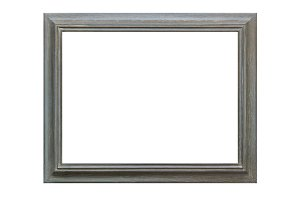 Ornamented wood empty picture frame