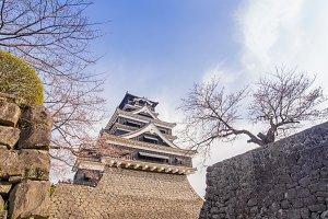 traditional Japanese Kumamoto Castle