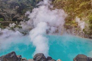 hot spring(Hell) in Beppu Japan.