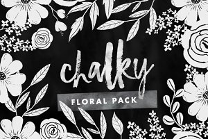 Chalky - Painted Floral Graphics