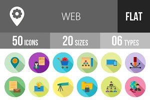 50 Web Flat Shadowed Icons