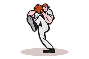 Baseball Pitcher Cartoon