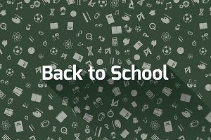 Back to school background with icons