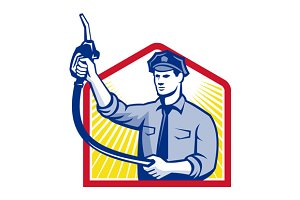 Gas Jockey Gasoline Attendant Fuel