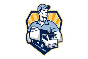 Removal Man Delivery Truck Crest