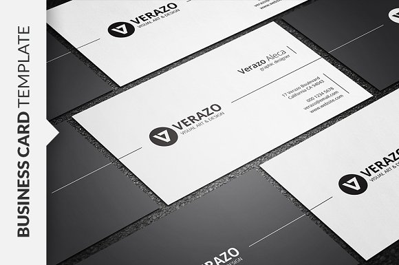 stylish minimal business card business card templates on creative market. Black Bedroom Furniture Sets. Home Design Ideas