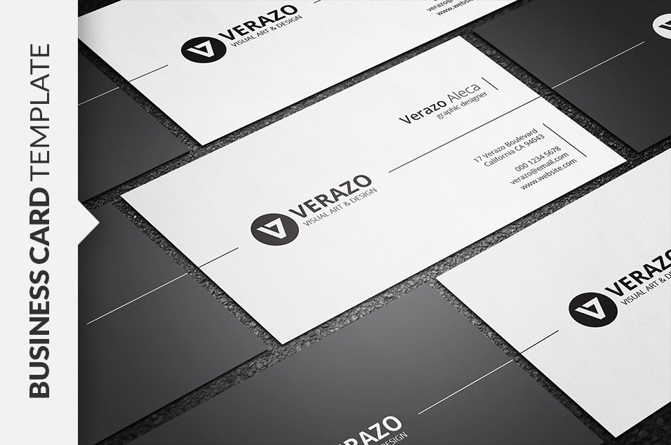 Stylish Minimal Business Card ~ Business Card Templates ~ Creative ...