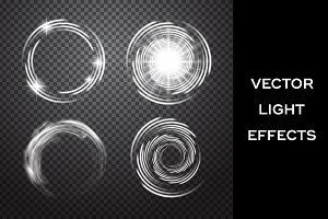 Vortex. Vector light effects set