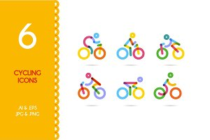 Cycling / cycling man icons