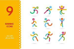 Running / running man icons