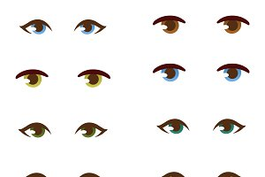 Human eye vector set