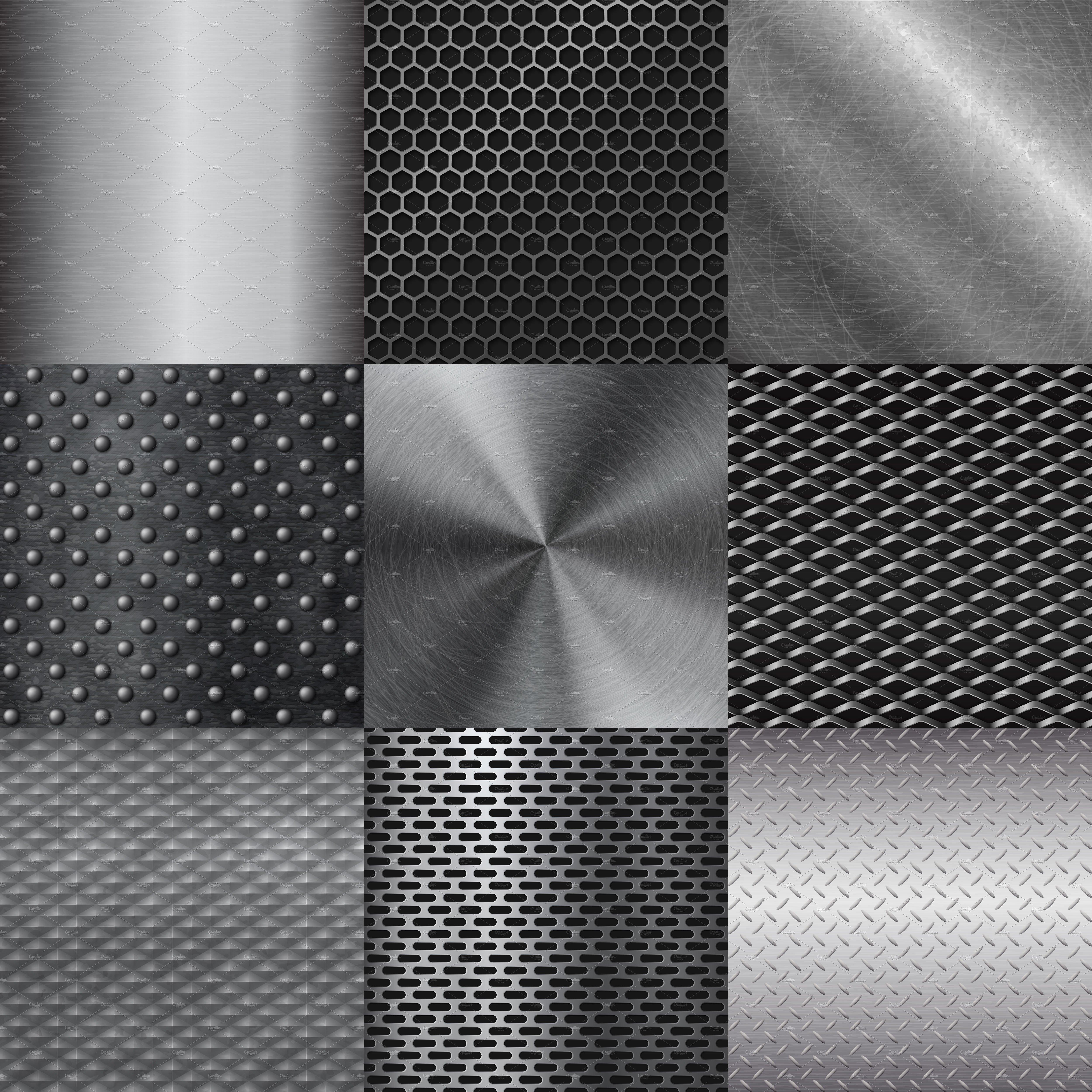 Metall Texture Pattern Vector Illustrations Creative Market