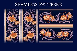 Floral Medieval Seamless Pattern