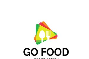 Go Food Logo Creative Logo Templates Creative Market