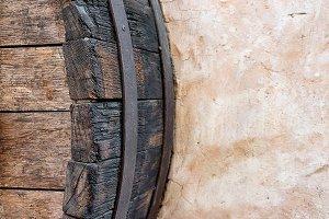 Detail of oak barrel