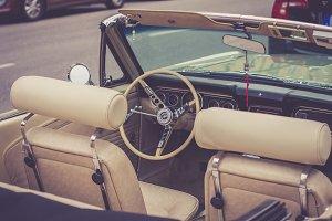 Classic Beige Car Interior