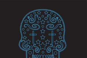 Skull icon ornament vector