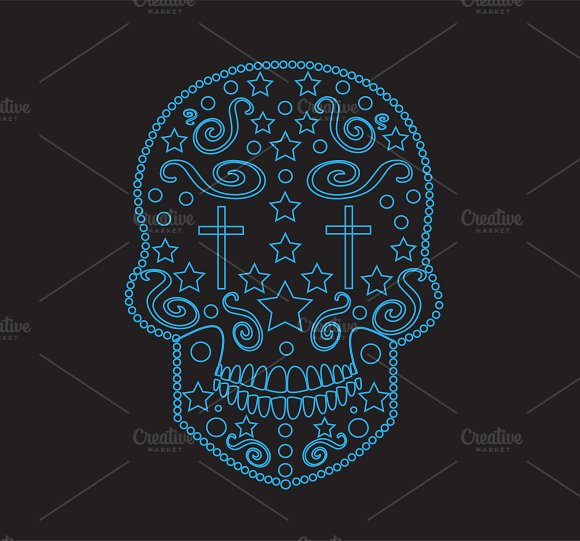 Skull icon ornament vector