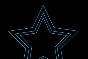 Star icon neon color
