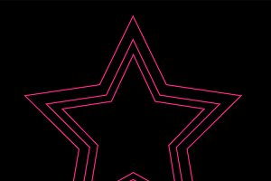 Star icon neon pink color