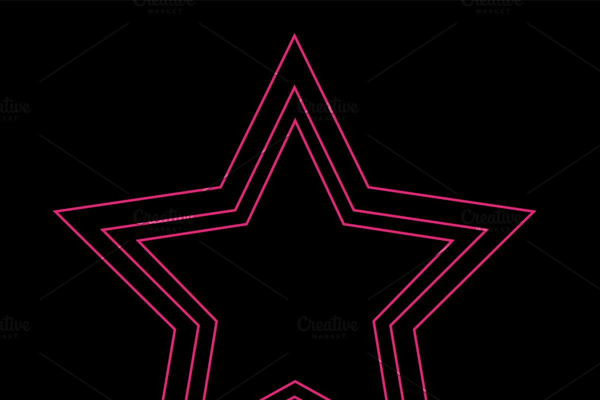 Star icon neon pink color in Icons - product preview 8