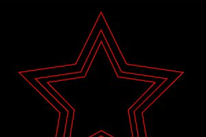 Star icon neon red color