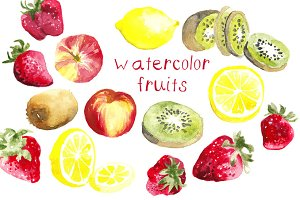 Watercolor Fruits Illustration