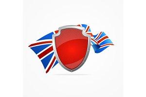 Greate Britain Flag and Shield