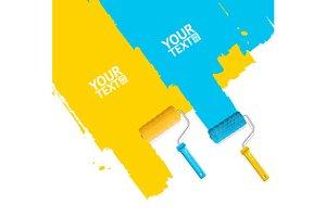 Roller Brush Painting Banner