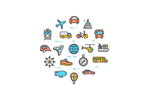 Transportation Round Icon