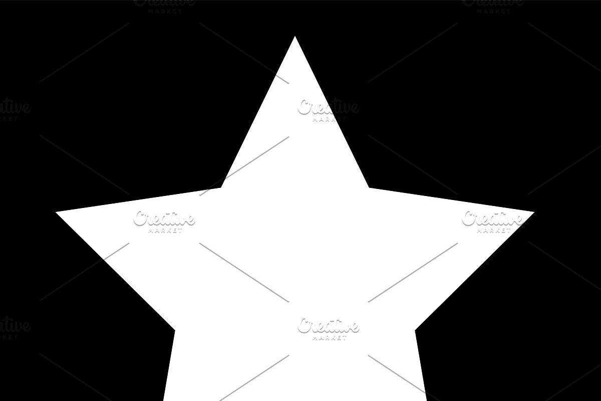 Star icon white color