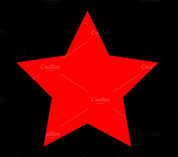 Star icon red color vector