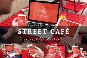 5 PSD Mockups Street Café