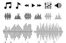Equalizer, music, sound waves