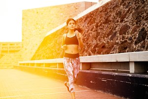 Healthy Girl Running