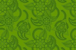 Green line art style pattern