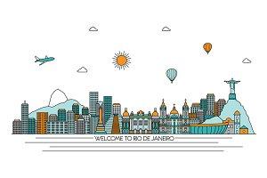 Rio de Janeiro line skyline