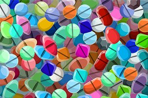 Medical pills background