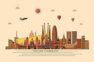 Barcelona line skyline