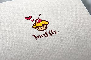 Logo Souffle pie confectionery Cake
