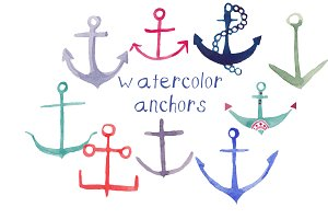 Watercolor Anchors
