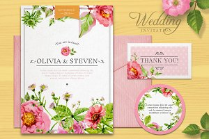Wedding vector set
