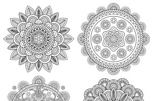 Indian boho floral mandalas