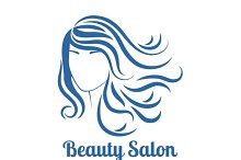 Girl face silhouette logo