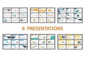 Set of presentation template