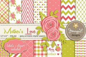 Mother's Day Digital Papers
